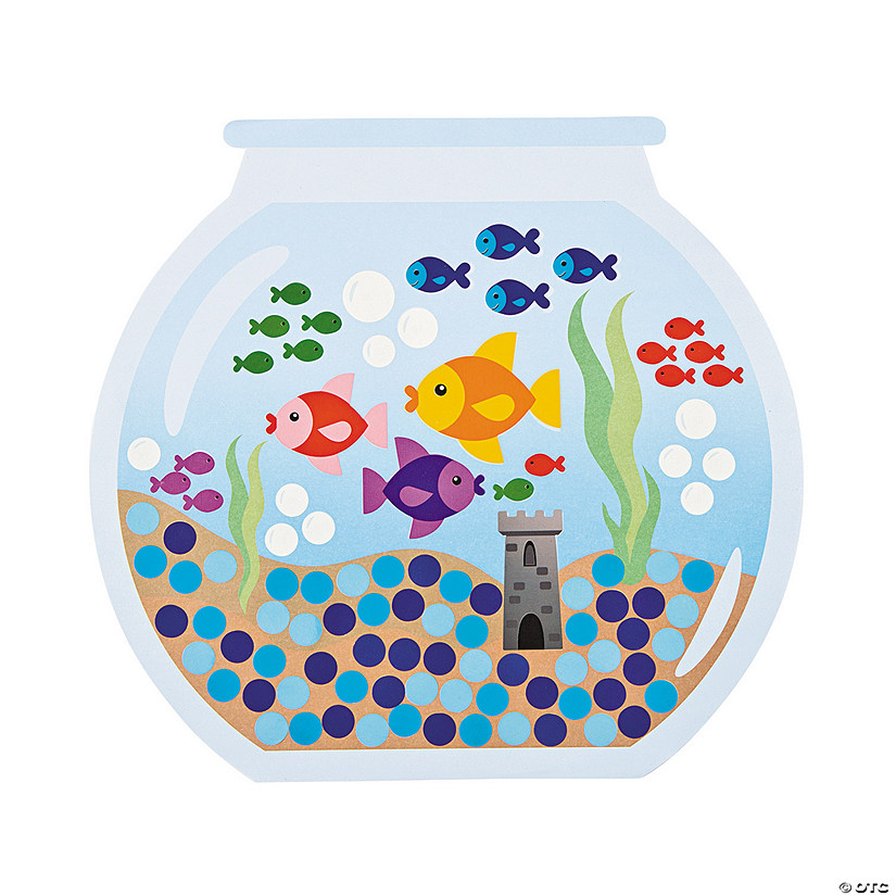 Count to 100 Fishbowl Sticker Scenes