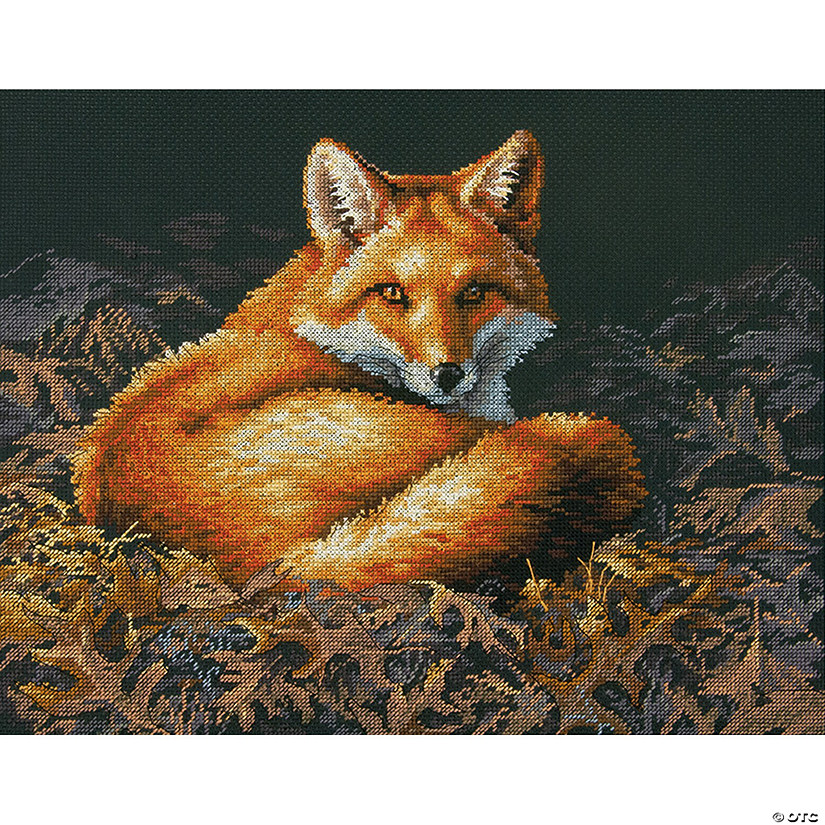 "Counted Xstitch Kit 14""X11""-Sunlit Fox"