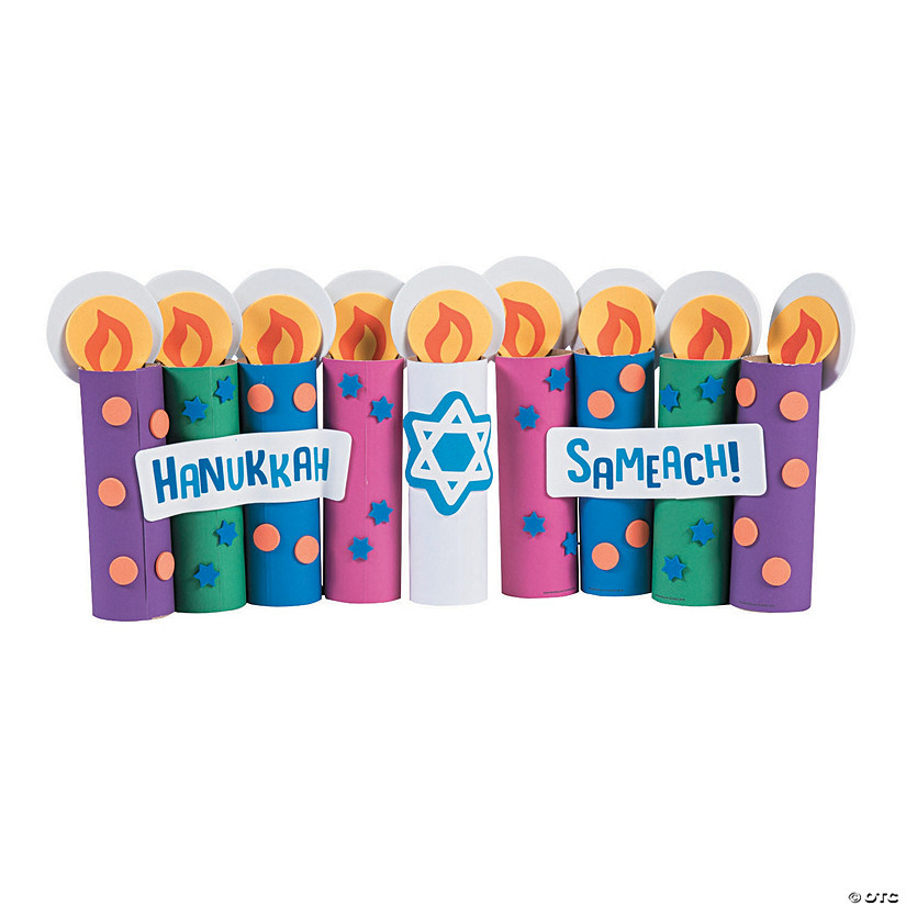 Craft Roll Hanukkah Candle Craft Kit Audio Thumbnail
