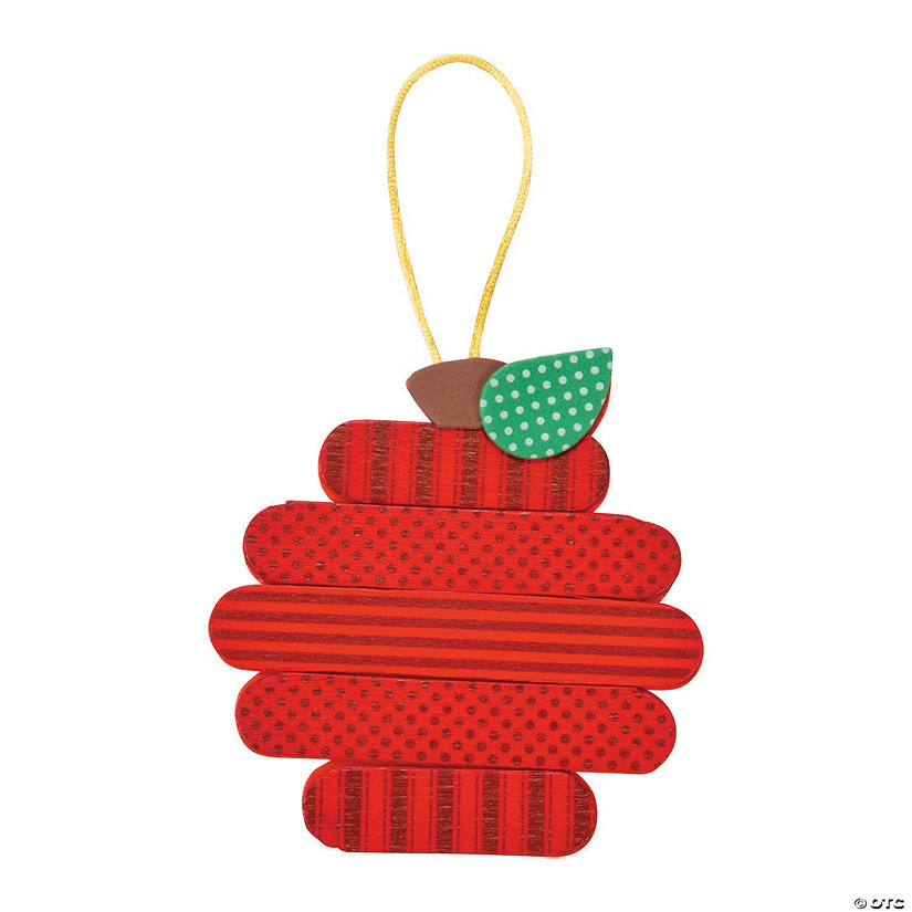 Craft Stick Apple Ornament Craft Kit