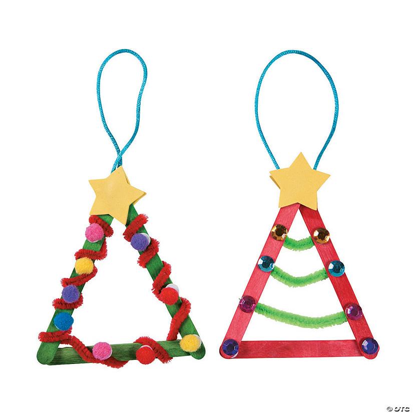 Craft Stick Christmas Tree Ornament Craft Kit | Oriental ...