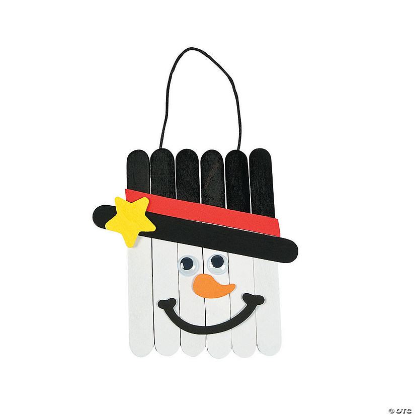 Craft Stick Snowman Banner Craft Kit