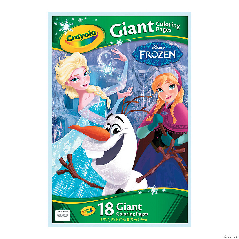 - Crayola Disney's Frozen Giant Coloring Pages - Discontinued