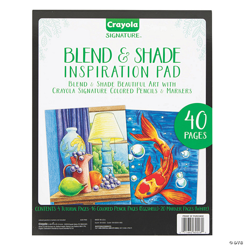 Crayola Signature<sup>&#174;</sup> Blend & Shade Inspiration Pad Image Thumbnail