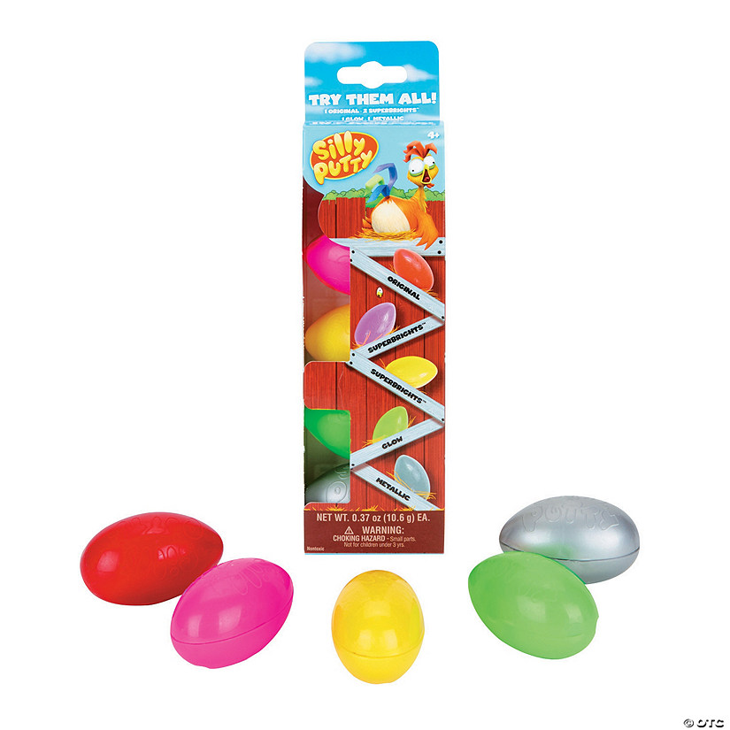 Crayola<sup>&#174;</sup> Silly Putty Eggs Party Pack - 5 Pc. Image Thumbnail