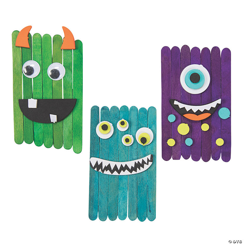 Crazy Eye Monster Craft Stick Craft Kit Audio Thumbnail