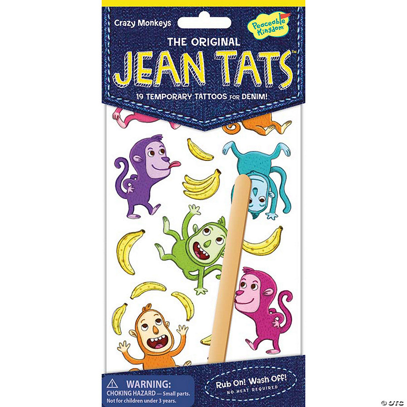 Crazy Monkeys Jean Tats Pack