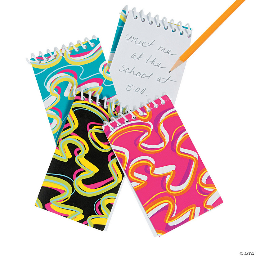 Crazy Wave Spiral Bound Notepads