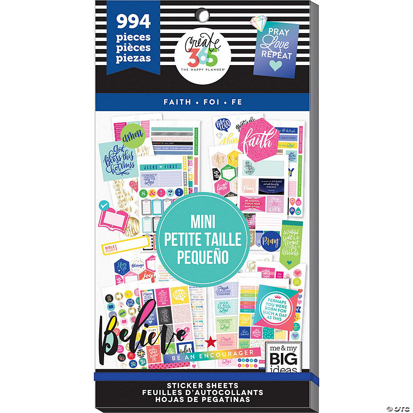 Create 365 The Happy Planner Mini Planner Sticker Value Pack - Faith Audio Thumbnail