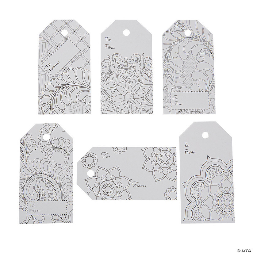 Creative Coloring Tags Abstract