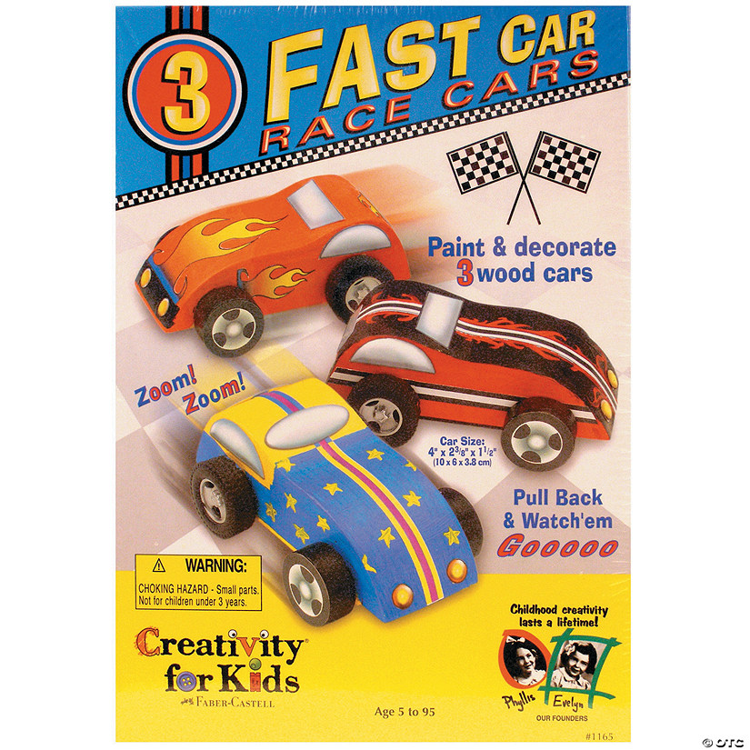Creativity for Kids Fast Car Race Cars Kit