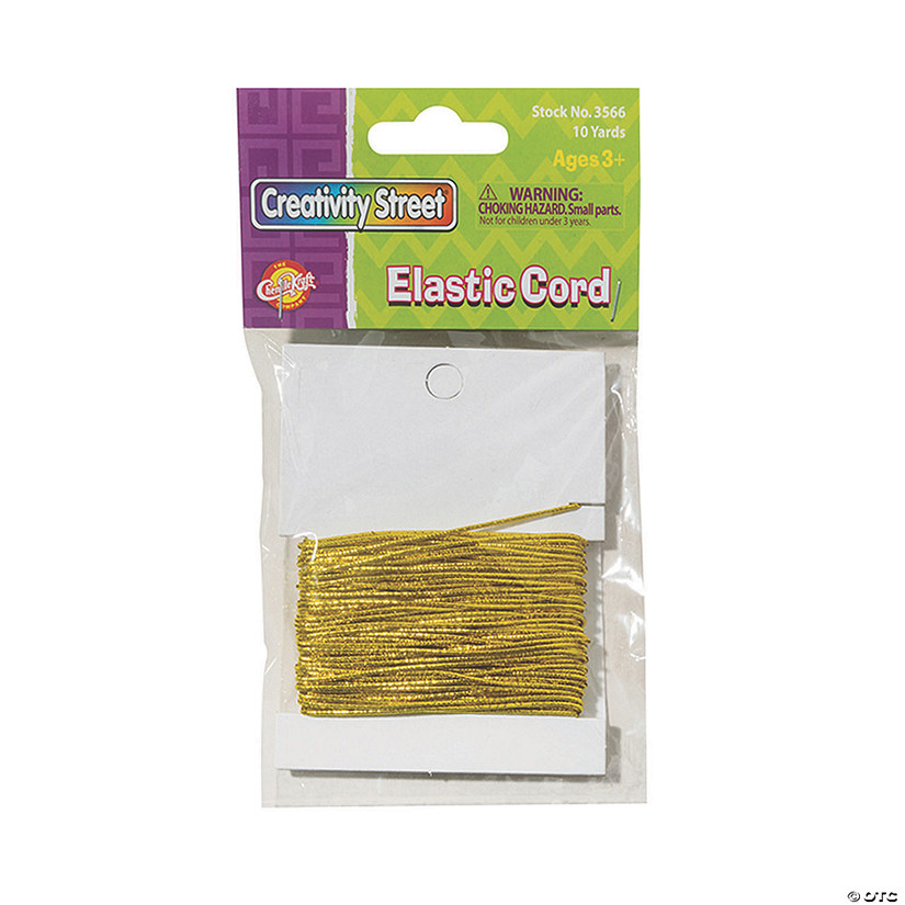 Creativity Street® Gold Elastic Cord, 10 Yards Per Pack, 6 Packs Image Thumbnail