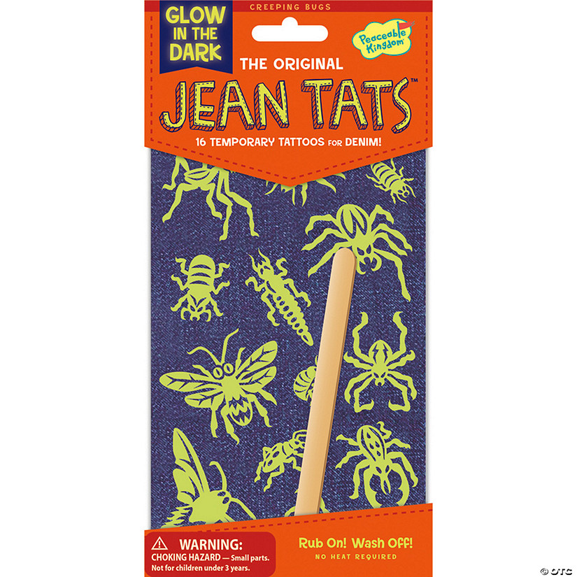 Creeping Bugs & Spiders Glow in the Dark Jean Tats Pack Audio Thumbnail