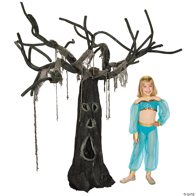 Creepy Willow Tree Halloween Decoration Image Thumbnail