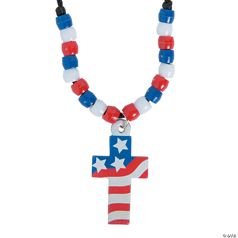 Cross with American Flag Necklace Craft Kit Audio Thumbnail