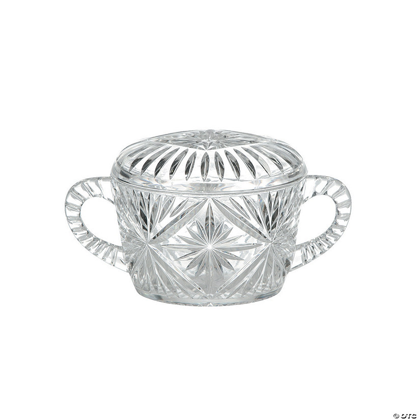 Crystal-Cut Sugar Holder with Lid