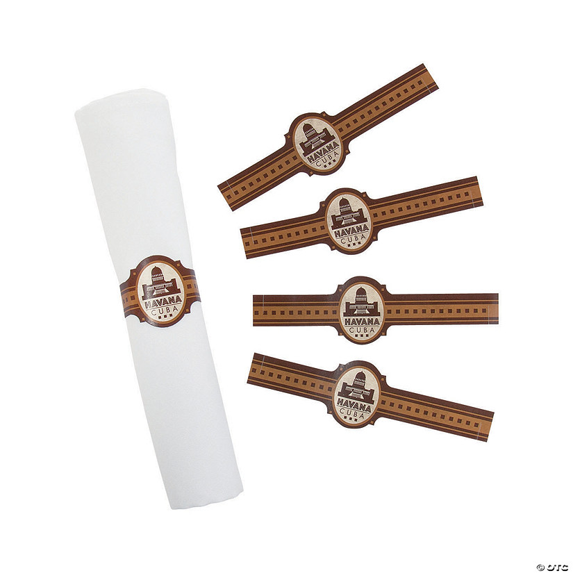 Cuban Party Paper Napkin Rings