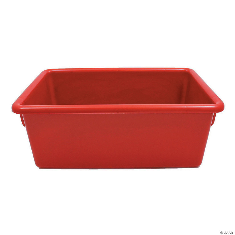 "Cubbie-Tray, Red, 8-5/8"" x 13-1/2"" x 5-1/4"", Set of 6"