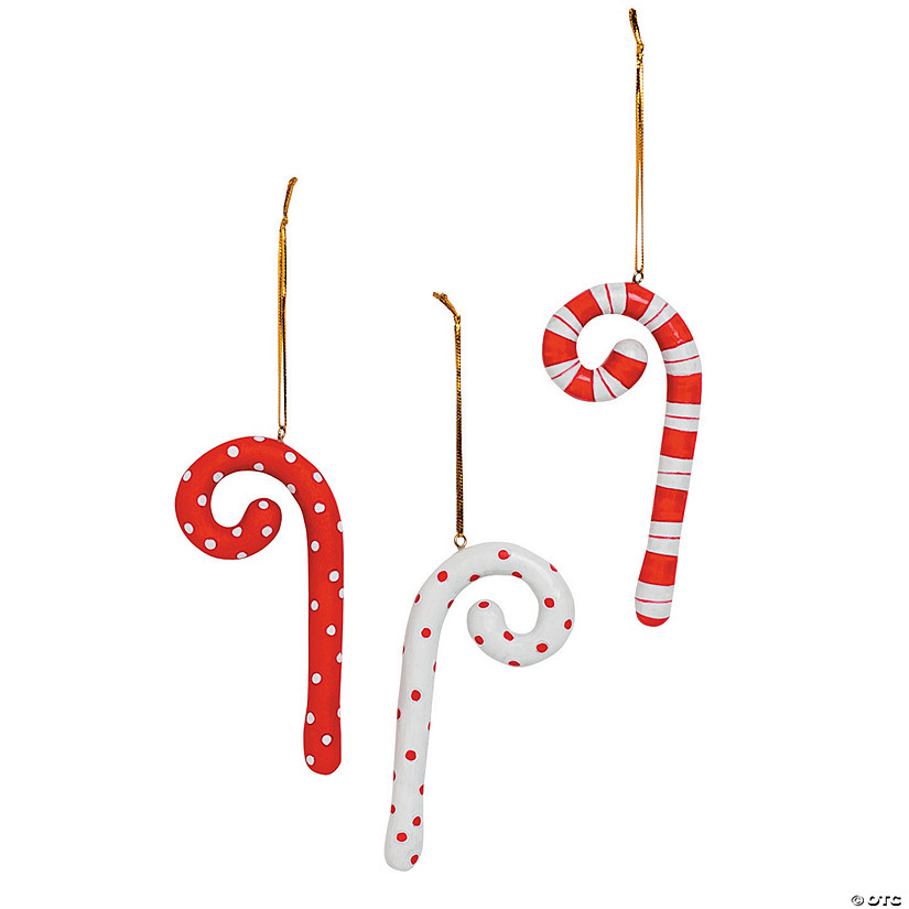 curly q candy cane christmas ornaments
