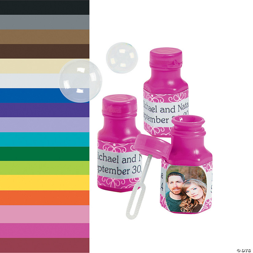 Custom Photo Hexagon Mini Bubble Bottles