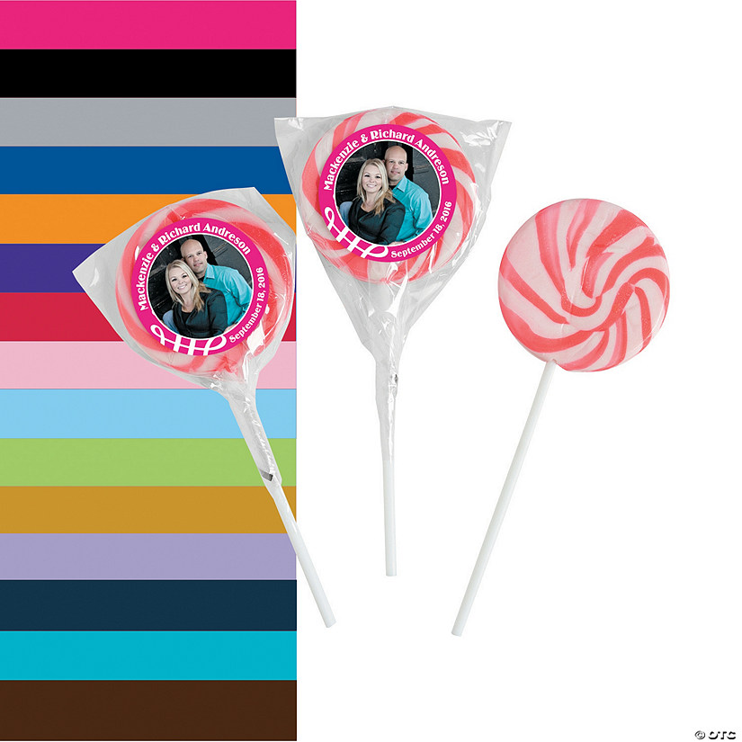 Custom Photo Swirl Lollipops