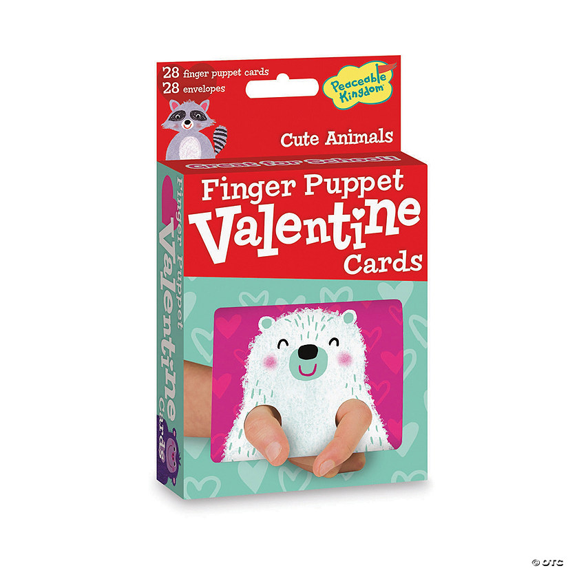 Cute Animals Finger Puppet Valentines Image Thumbnail