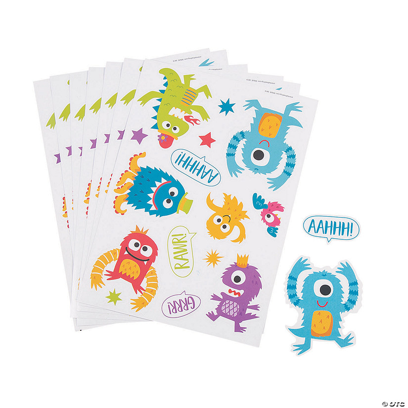 Cute Monster Sticker Sheets Audio Thumbnail
