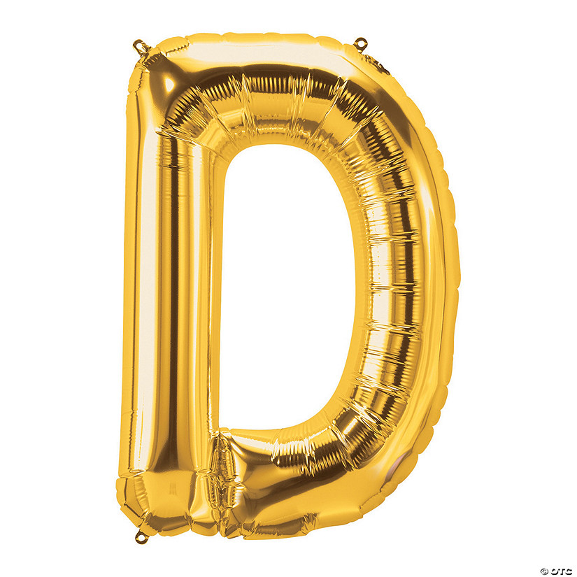 D Gold Letter Mylar Balloon Audio Thumbnail