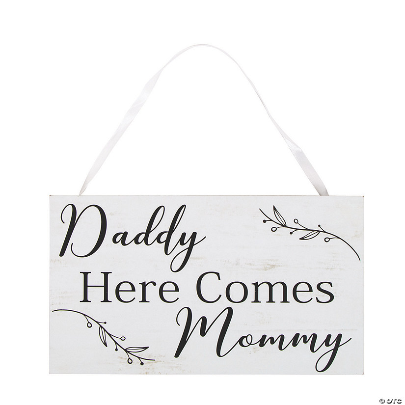 Daddy Here Comes Mommy Ring Bearer Sign Audio Thumbnail