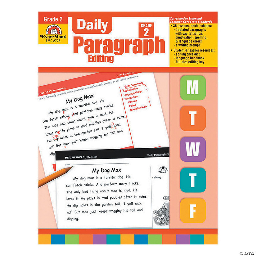 Daily Paragraph Editing Book - Teacher's Edition, Grade 2 Audio Thumbnail