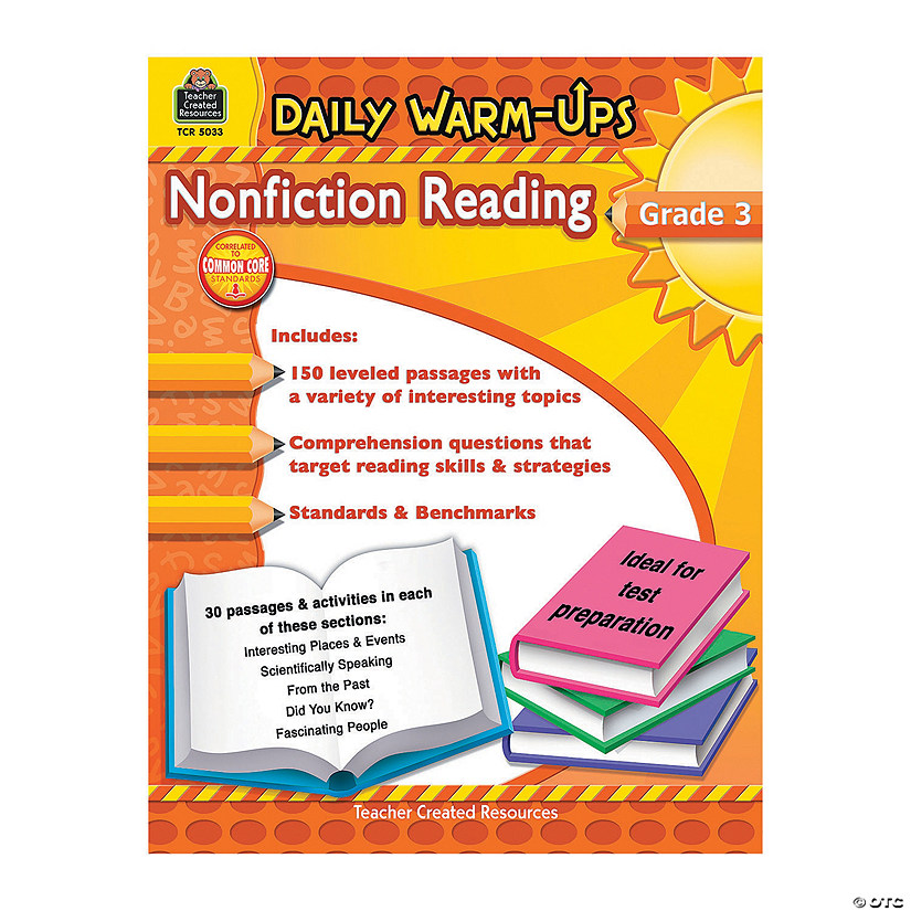 Daily Warm-Ups: Nonfiction Reading - Grade 3
