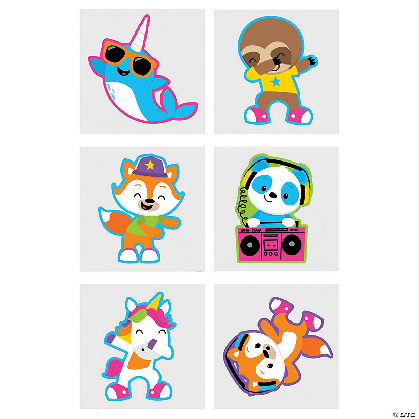 Dancing Animals Temporary Tattoos Audio Thumbnail