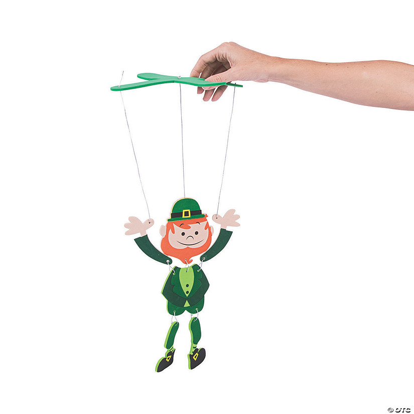Dancing Leprechaun Puppet Craft Kit Image Thumbnail