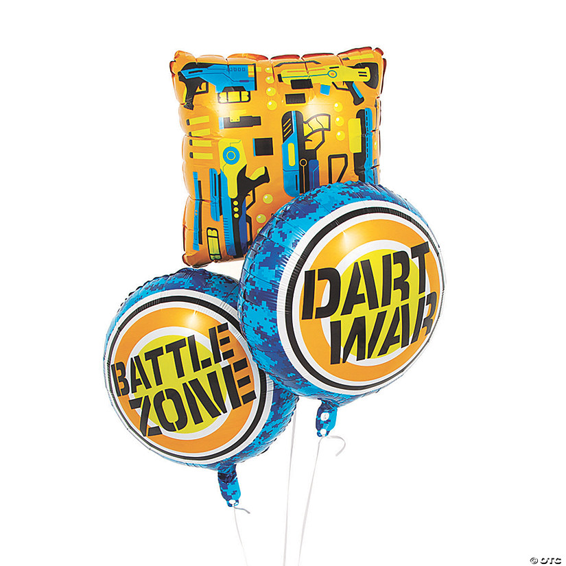 "Dart Battle 18"" Mylar Balloon Set Audio Thumbnail"