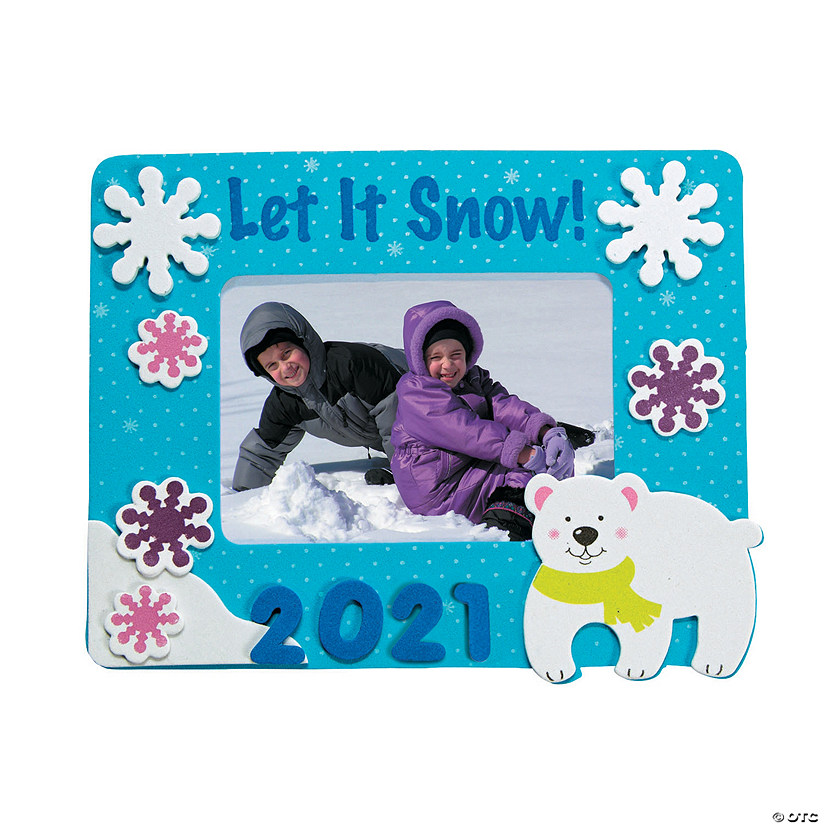 Dated Winter Picture Frame Magnet Craft Kit