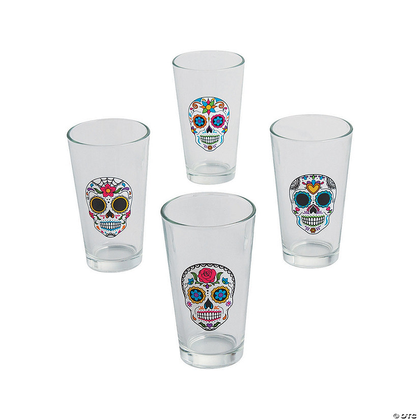 Day of the Dead Glass Tumblers Image Thumbnail