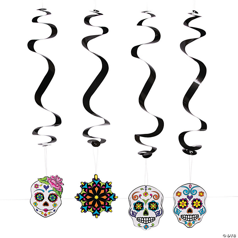 Day of the Dead Hanging Swirl Decorations - 12 Pc. Audio Thumbnail