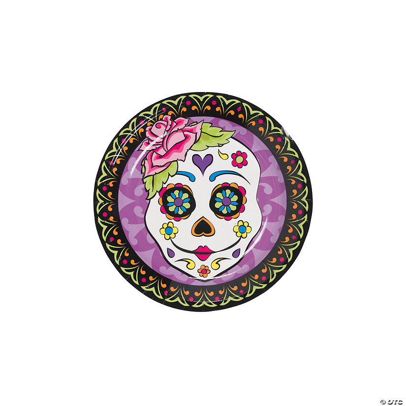 Day of the Dead Paper Dessert Plates