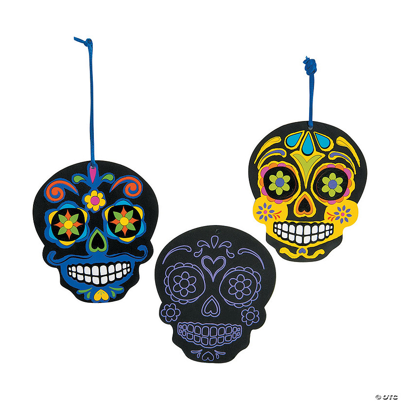 Day of the Dead Scratch 'N Reveal Ornaments Image Thumbnail