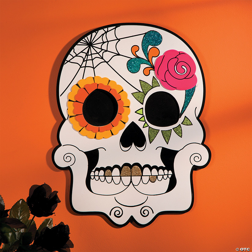 Day of the Dead Skull Wall Decoration Image Thumbnail