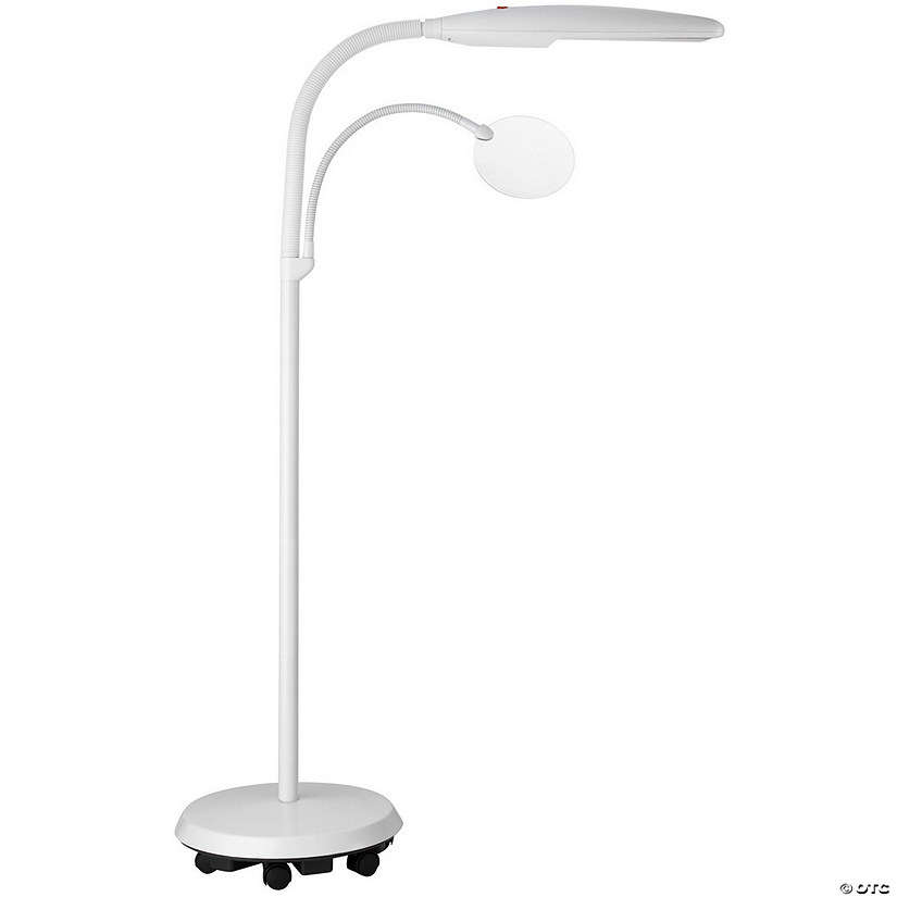 Daylight Swan Floorstanding Lamp, White