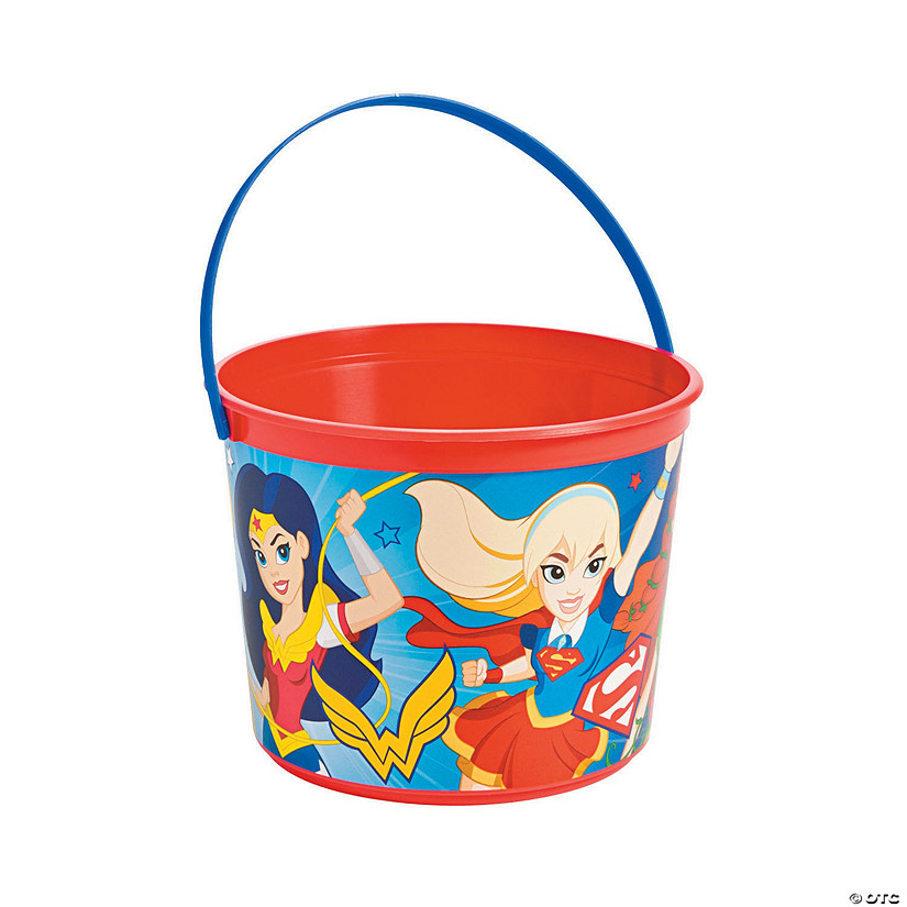 DC SuperHero Girls™ Plastic Favor Pail Audio Thumbnail