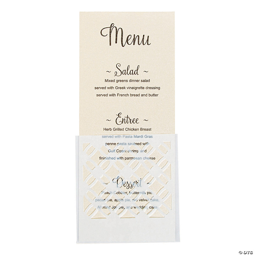 Decorative Vellum Menu Holders Audio Thumbnail
