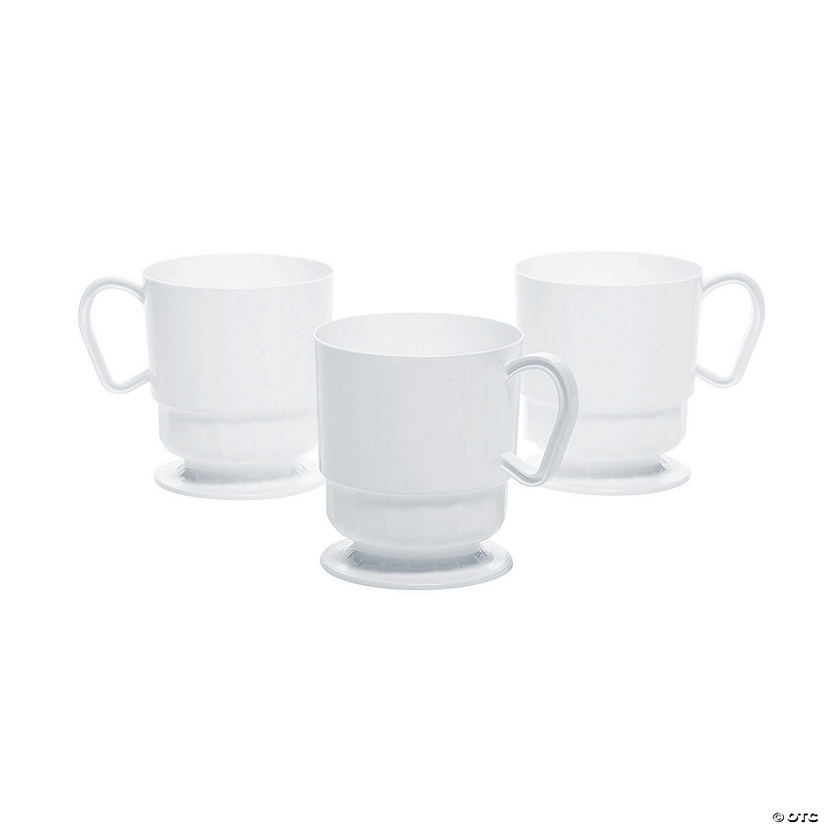 Deluxe White Coffee Cups