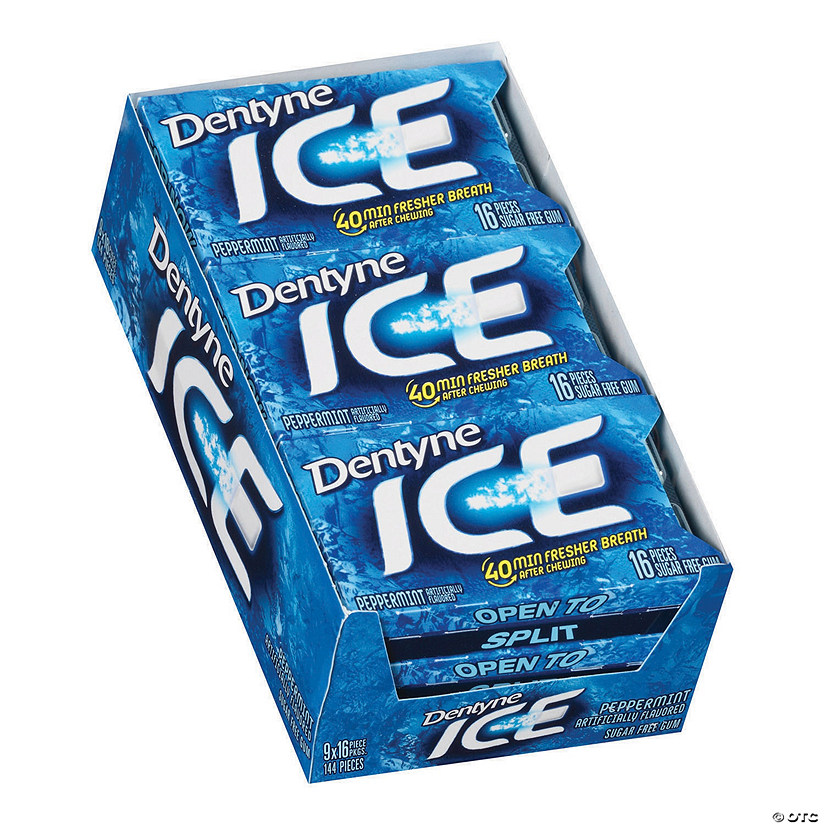 Dentyne Ice Peppermint Sugar-Free Gum, 16 Piece, 9 Count Image Thumbnail