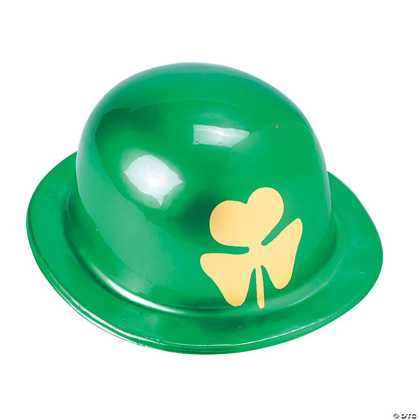 Derby Hats with Gold Shamrock Print Image Thumbnail