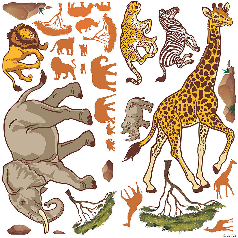 Design-A-Room African Safari VBS Backdrop Set