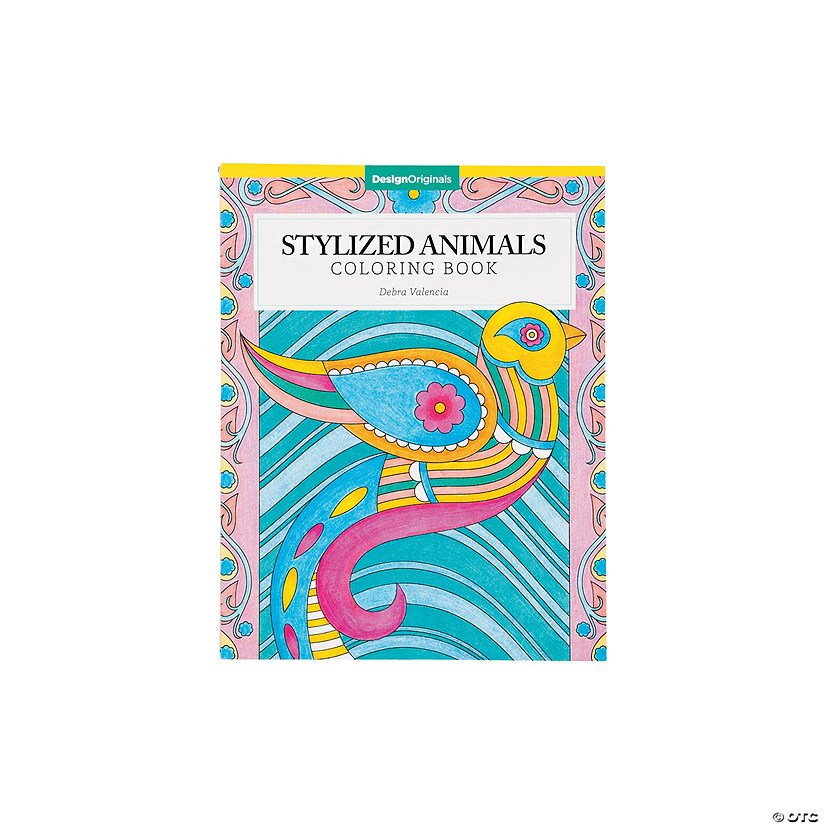 Design Originals Stylized Animals Adult Coloring Book