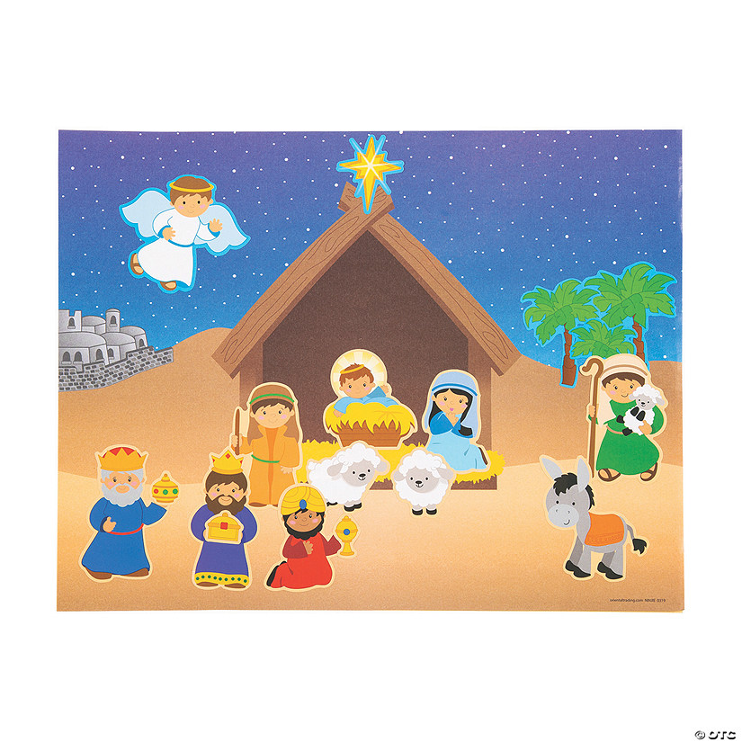 Design Your Own Nativity Sticker Scenes Image Thumbnail