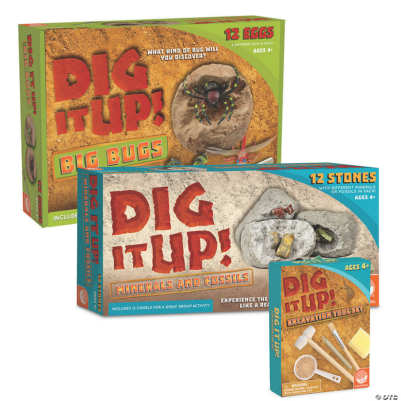 Dig it Up! Minerals & Fossils and Big Bugs: Set of 2 plus FREE Excavation Kit Audio Thumbnail
